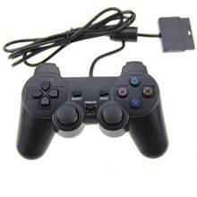 Eastvita cor transparente com fio controlador para sony ps2 gamepad dupla vibração controlador claro gamepad para playstation