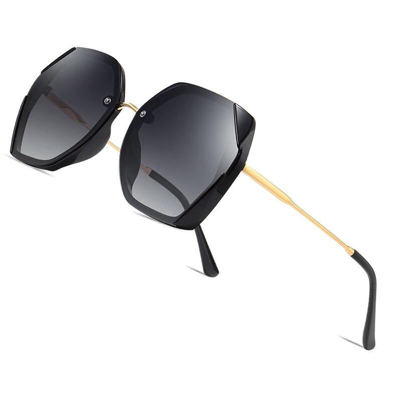AOFLY BRAND Female Sunglasses Polarized Luxury Designer Oversized Frame Gradient Lens Square Sun glasses For Women Goggle UV400Womens Sunglasses   -