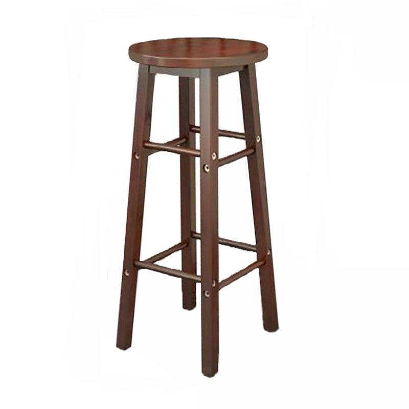 Solid Wood Bar Stool Chair Bar Bar Stool High Stool Coffee Shop Bar Restaurant Dedicated