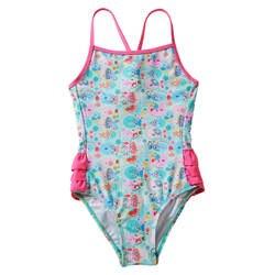 Г-н Ши Ин Amazon Новый стиль с мультяшной рыбкой; нарядный лиф с принтом Детский жакет из денима для девочки; купальник в европейском и