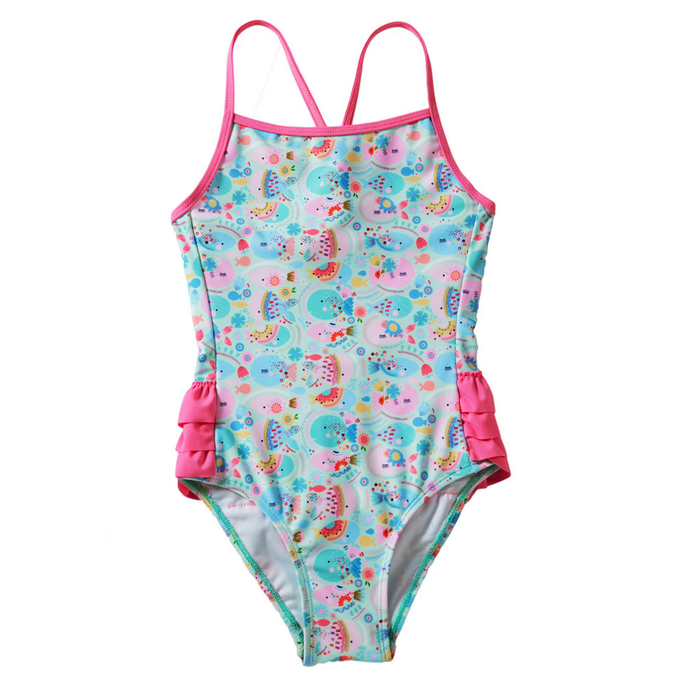 Shi Ying Amazon New Style Cartoon Fish Printed Camisole GIRL'S Swimsuit Europe And America Princess One-piece Swimming Suit 4100