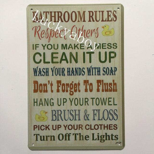 [Lucky yaboy] cuisine salle de bain toilette Bar homme grotte règles vie maman grotte Vintage métal rétro étain signe barre café Garage décor à la maison