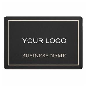 Modern Black and Gold Company Business Logo Personalised Welcome Door Mat High Quality Custom Branding Rug Carpet Doormat Floor
