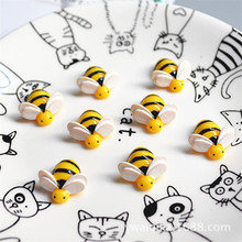 5Pcs Artificial Bees Addition Slime Charms Toy for Children Pretend Play Modeling Clay Lizun DIY Accessory Kid Gift E