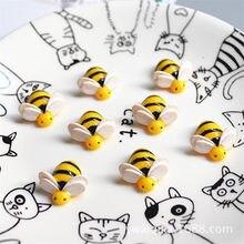 5 sztuk sztuczne pszczoły dodatek Slime Charms zabawka dla dzieci udawaj zagraj Charms modelowanie gliny Lizun akcesoria zrób to sam na prezent dla dzieci E