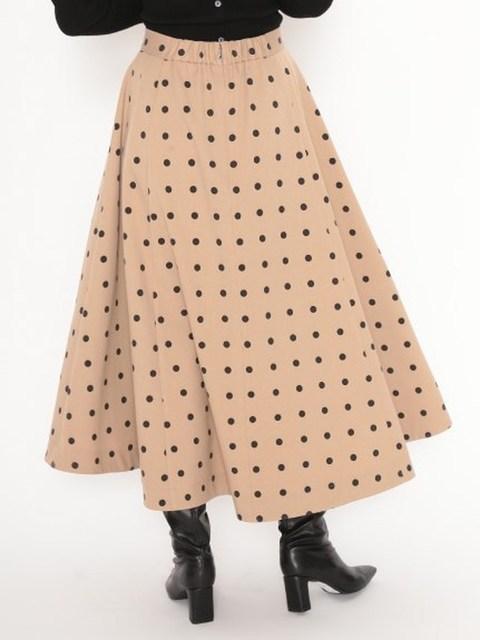 Neploe Elegant French Style Chic Polka Dot Women Skirts 2021 Autumn Winter New All-match Jupe High Waist Zip A-line Femme Skirt 2