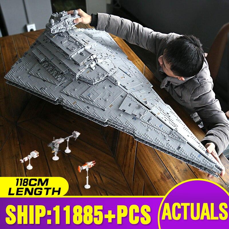 05027 star brinquedos guerras o MOC-23556 isd monarch star destroyer compatível com lepining 75252 crianças presente de natal blocos de construção
