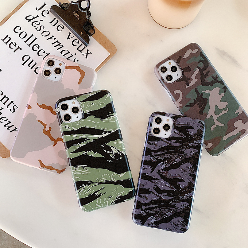 Luxury Marble Silicone Soft Case For Iphone 11 Pro Xs Max X Xr Matte Camouflage Full Cover Case For Iphone 7 8 6s 6 Plus Se 2020
