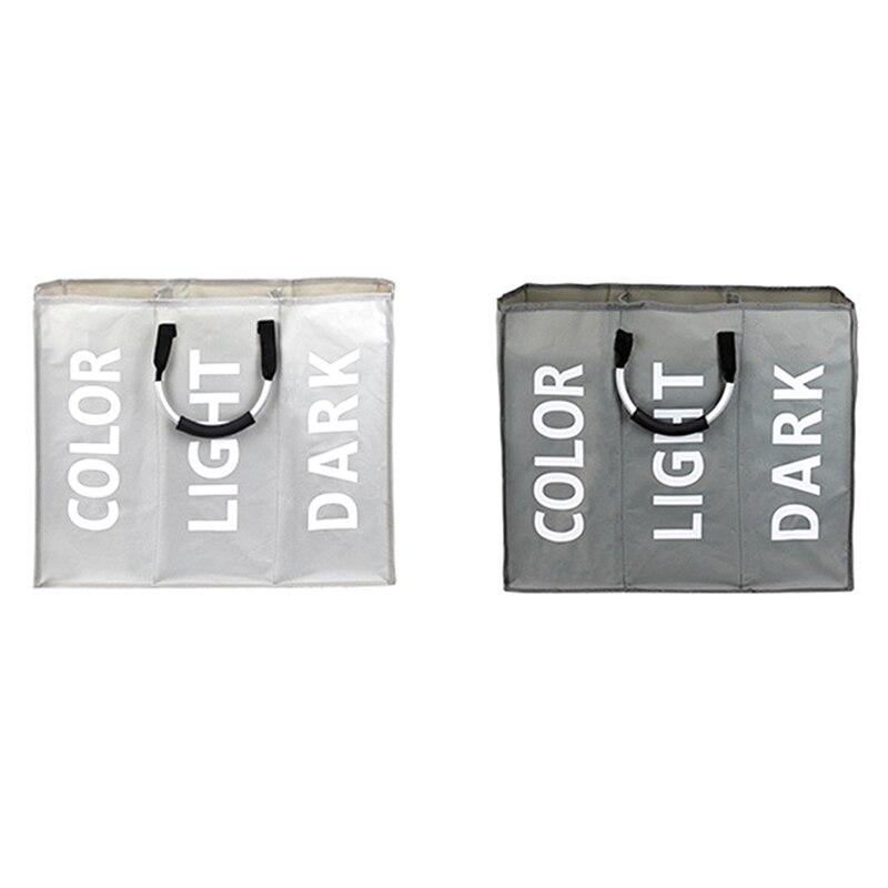 Три сетки органайзер для белья грязная одежда игрушка Бюстгальтер сумка для белья три отделения Складная практичная сумка для хранения