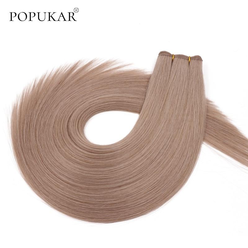 Popukar Top Quality Virgin Human Hair Double Weft 18A# 100g Human Hair Weave Bundles Blonde