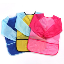 Kids Waterproof Art Craft Apron Smock For Children DIY Painting Drawing Baking Eating Aprons Pockets For Paint Brush Tool cheap Fashion Solid 976232 Unisex 0-3M 4-6M 7-9M 10-12M 2-3Y 10-12Y 13-18M 4-6Y 19-24M 7-9Y NYLON