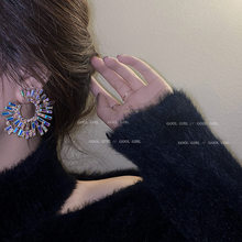Personality earrings with rhinestone fashion fantasy color exaggerated earrings temperament earrings for women