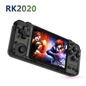 Console de videogame portátil rk2020, tela de 3.5 polegadas hd ips para ps1/n64 jogos