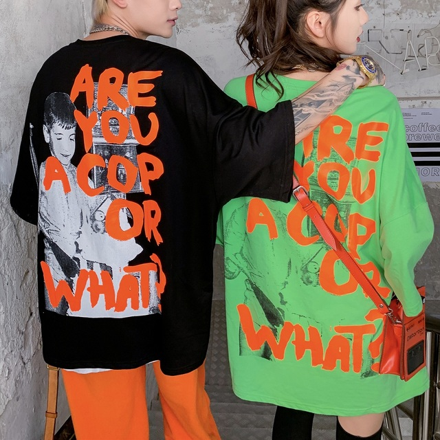 2020 Harajuku Graffiti t-shirt sweat hommes Hip Hop manches courtes Streetwear décontracté mode vêtements Hipster noir couverture en coton