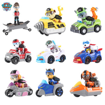 Genuine paw patrol birthday set puppy patrol car ryder skye zuma action figure patrulha canina children birthday gift set фото