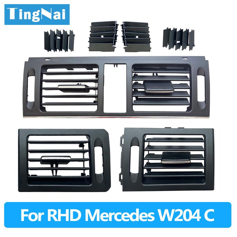 RHD Dashboard Fresh A/C Air Conditioner Vent <font><b>Grille</b></font> Cover For Mercedes <font><b>Benz</b></font> <font><b>W204</b></font> C Class 180 200 220 230 260 300 350 2007-2011 image