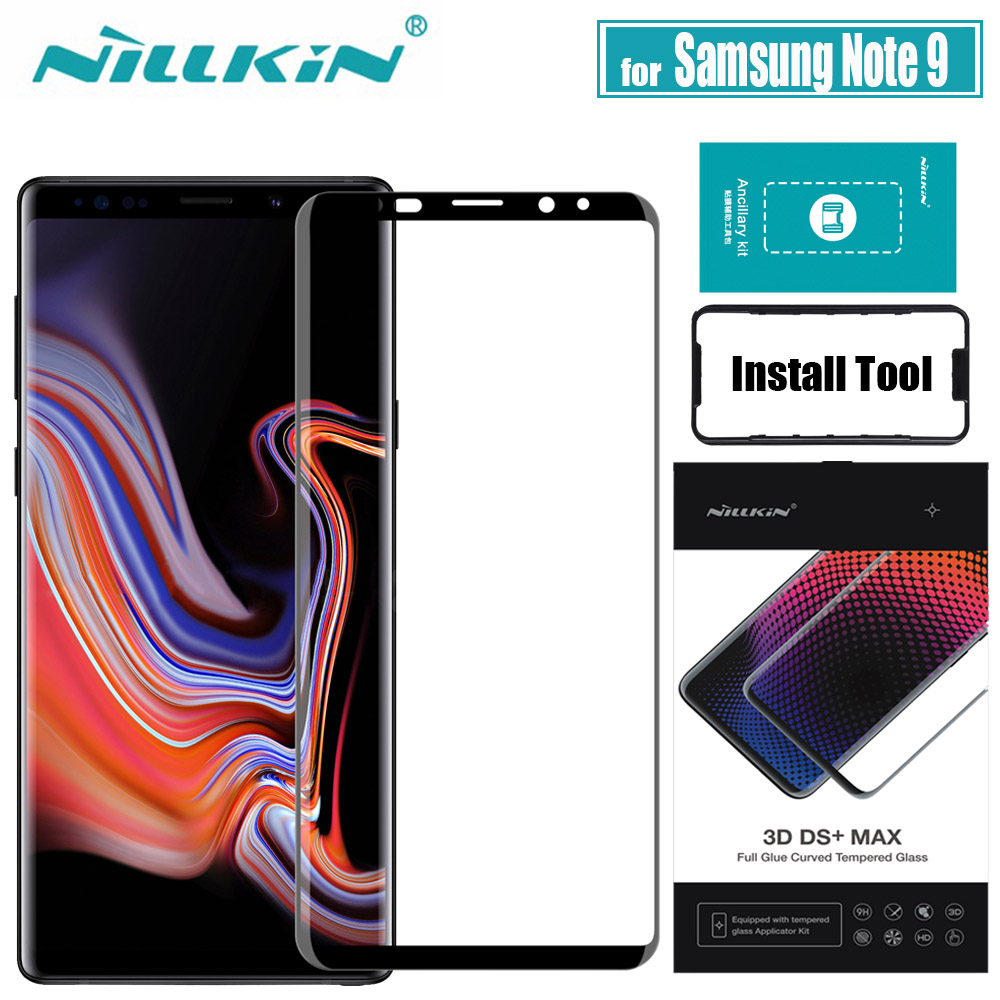 NILLKIN for Samsung Note 9 Glass Screen Protector 3D Full Cover Glue 9D Edge Safety Protective Tempered Glass for Galaxy Note9|Phone Screen Protectors| |  - title=