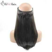 HiArt 100 г Halo волосы для наращивания с двойным нарисованным плетением, накладные волосы для наращивания, прямые волосы Halo, 14 дюймов, 16 дюймов