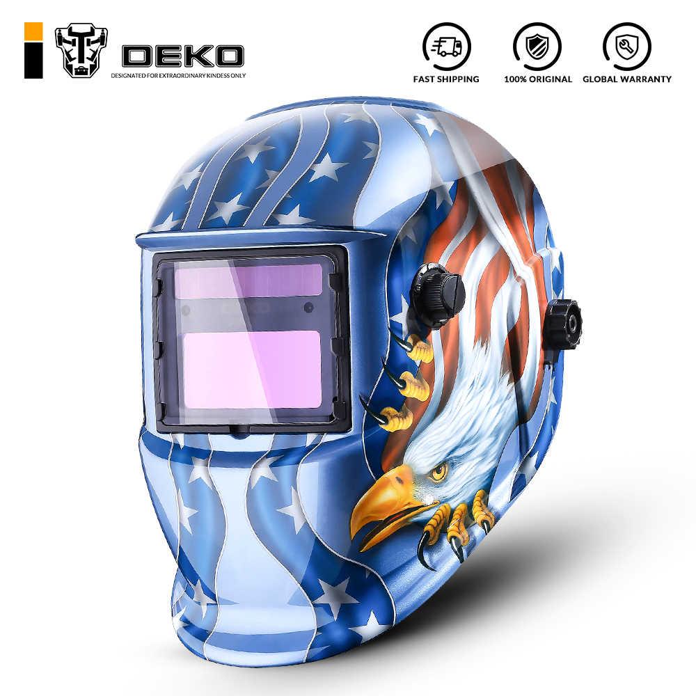 DEKO Eagle SOLAR Auto Darkening MIG MMA ไฟฟ้าหน้ากากเชื่อม//เชื่อมเลนส์สำหรับเครื่องหรือ Plasma เครื่องตัด