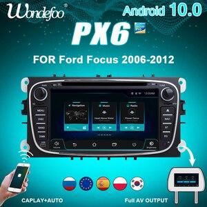 Image 1 - 안드로이드 올인원 네비게이션 포드 포커스 Mondeo S MAX C MAX 갤럭시 kuga 2din 자동 오디오 탐색 자동차 스테레오 멀티미디어 gps에 대 한 2 DIN 안 드 로이드 자동차 라디오 PX6 카오디오