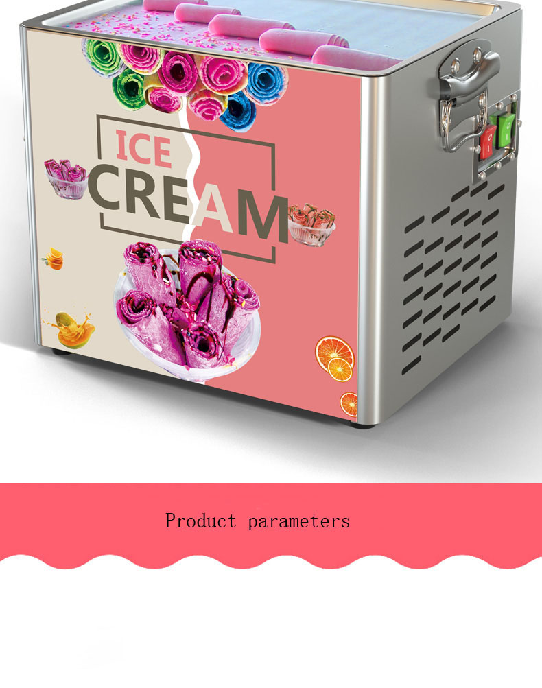 New Style Small One Pan Roll Cold Plate Fried Ice Cream Roll Machine