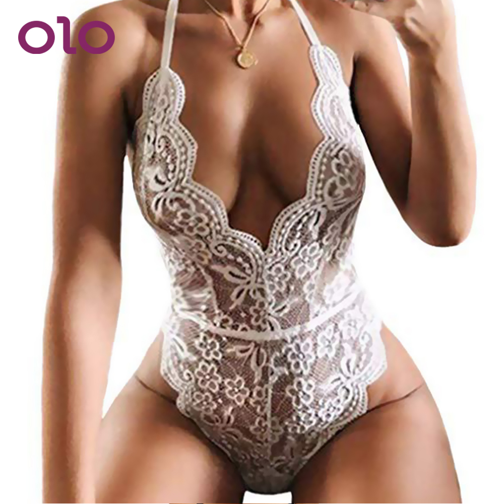 OLO Erotic Women Lingerie Sexy Hot <font><b>Dress</b></font> Teddies Bodysuits <font><b>Sex</b></font> Underwear Porn Lace Babydoll Costumes M L XL <font><b>Adult</b></font> Products image