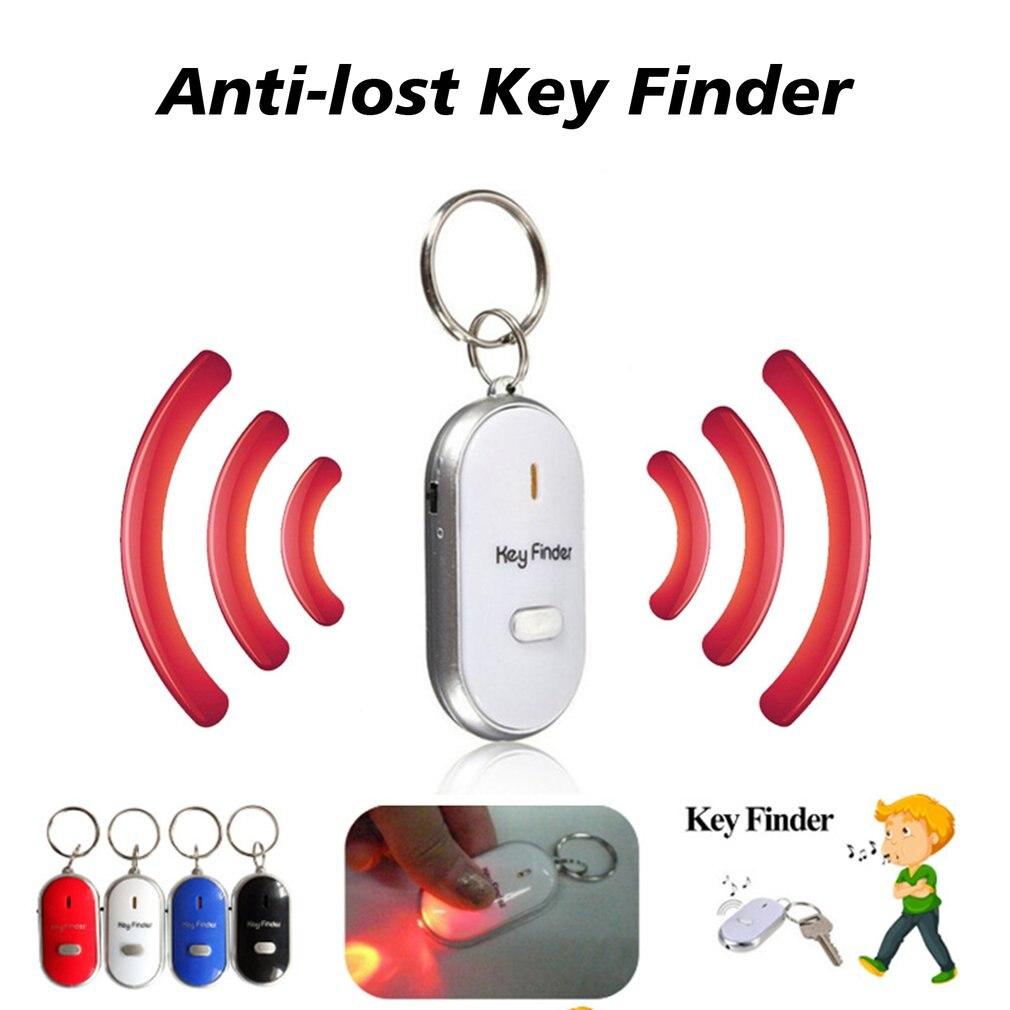 Détecteur de clé intelligente Anti perte sifflet capteurs porte clés Tracker LED avec sifflet Claps localisateur |