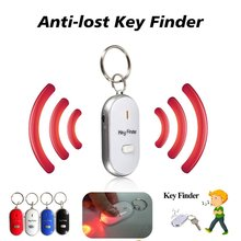 Keychain Tracker Whistle Sensors Claps-Locator Smart-Key-Finder Anti-Lost LED