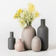 Nordic Glass Vase Minimalism Modern Home Decor Living Room Table Decoration Accessories Vase Decoration Household Flower Vases