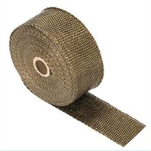 Tape Fiberglass Heat-Wrap Roll for Motorcycle with Stainless-Ties 5cm--5m 10M 15m-Exhaust