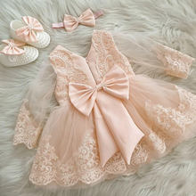 Ma&Baby 6M-6Y Princess Toddler Kid Baby Girl Dress Long Sleeve Lace Bow Tutu Dresses For Girls Party Wedding Birthday Costumes