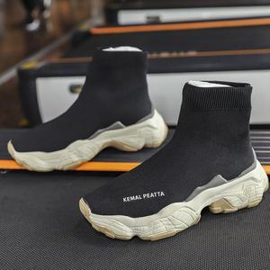 Image 5 - SWYIVY גרב סניקרס נשים 2019 חדש סתיו סריגה שחור סניקרס נקבה נעליים יומיומיות נעלי טריזים נשים קרסול מגפי לבן
