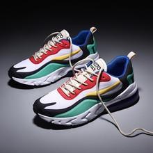 2020 Vintage color de costura zapatillas de hombre transpirable malla Casual hombres zapatos cómodos moda Tenis Masculino adultos zapatillas