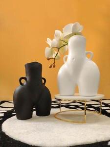 Flower Vases Butt Home-Decoration Nude Creativity Modern Handicraft Resin Furnishings
