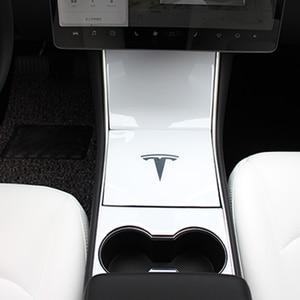 Image 5 - Heenvn Model3 Car CenterคอนโซลCentraleสำหรับTeslaรุ่น 3 สติกเกอร์คาร์บอนไฟเบอร์สำหรับTeslaรุ่นYสามสีขาวอุปกรณ์เสริม