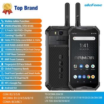Перейти на Алиэкспресс и купить Ulefone Armor 3WT IP68 водонепроницаемый мобильный телефон Android9.0 5,7 дюйм21MP Helio P70 Восьмиядерный NFC 10300mAh Walkie Talkie 4G смартфон
