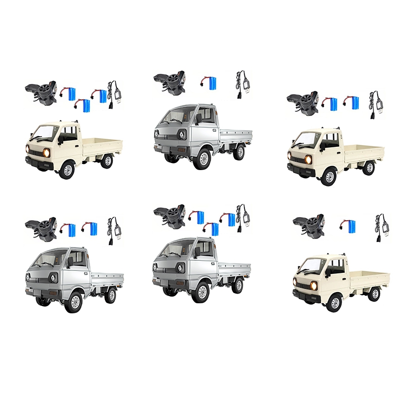 for Wpl D12 Suzuki Carry 1/10 4Wd Simulation Drift Truck Climbing Car LED Light Rc Car Toys for Boys Kids Gifts,White1B