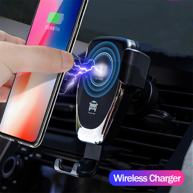 Fast Qi Car Wireless Charger For iPhone XS Max XR X Samsung S10 S9 Intelligent Wireless Charging Phone Car Holder For Xiaomi
