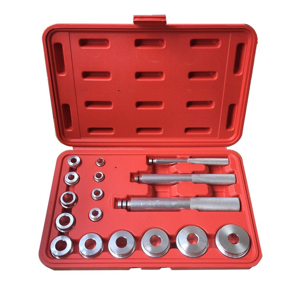 17 PCS Wheel Bearing Race Seal Bush Driver Master Tool Set Aluminum Axle Auto Set SK1148