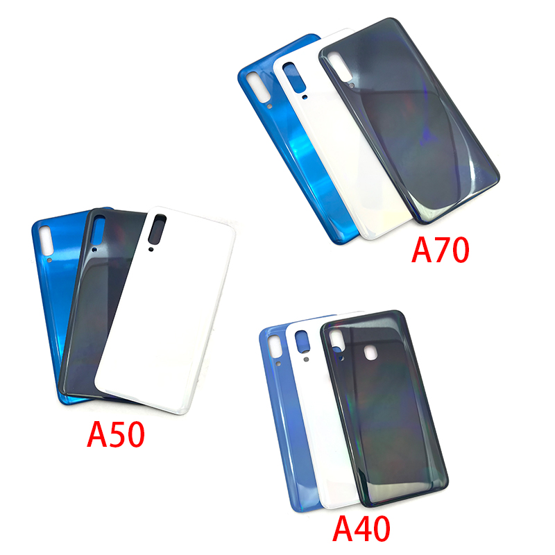 Back Glass Rear Cover For Samsung Galaxy A40 A50 A70 A405F A505F A705F Battery Door Housing Battery Back Cover