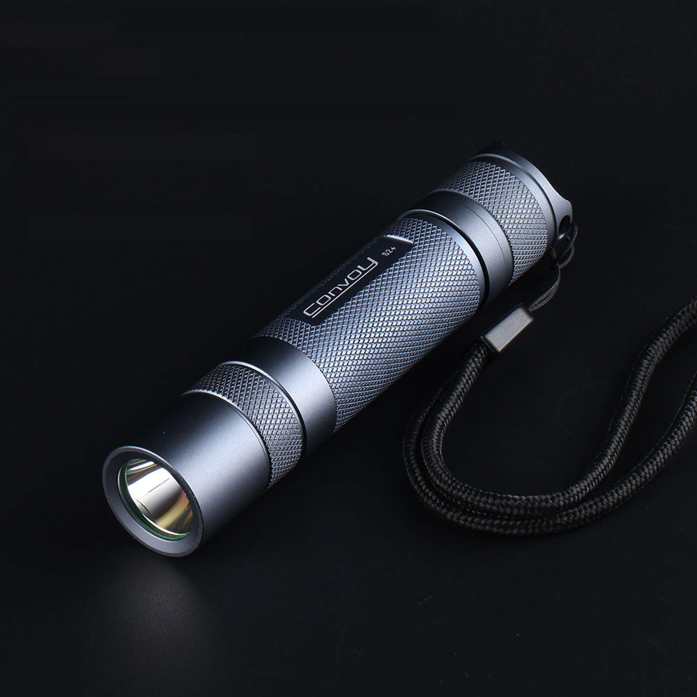 Gray Convoy S2  Led Flashlight DTP Copper Plate  Ar Coated Glass Lens Flashlight 7135 Biscotti Firmware Led Electric Torch Light