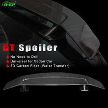 R-EP Car Spoiler Universal Fit for E46 E90 E36 Corolla Civic ABS Material Carbon Fiber Racing Sedan Rear GT Wing XH-GT101