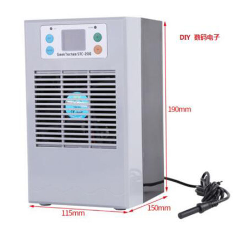 72W 100W LCD Display Aquarium Water Chiller Pond Cooling Device Fish Tank Constant Temperature Cooling Equipment With Pump