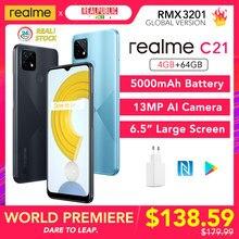 Realme – C21 Helio G35, Version globale, 4 go 64 go, batterie 5000mAh, caméra 13mp, NFC