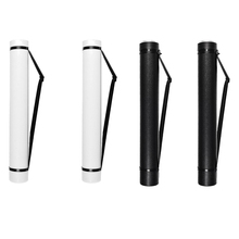 Retractable Poster Tube Shoulder Strap and Handle Portable Durable Round Storage Box