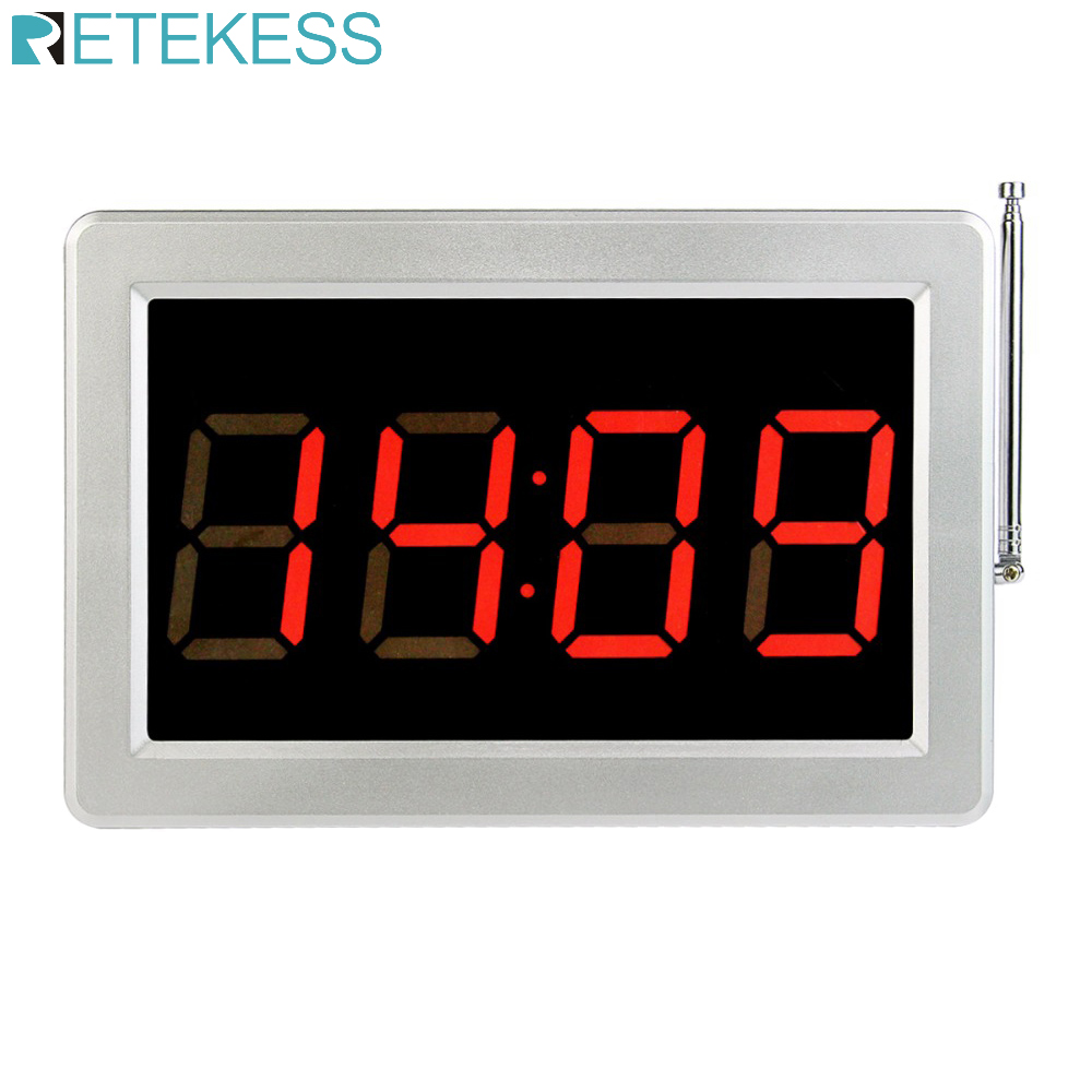Retekess 999 channel call customer bar cafe restaurant pager calling paging system Voice Broadcast Receiver Host F3290D| | |  - title=