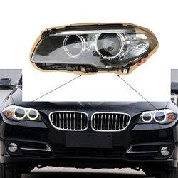 Dla BMW serii 5 f18 f10 2011 2016 obiektyw klosz do lampy przedni reflektor odcień osłona obiektywu osłona obiektywu osłona szklana latarnia obiektywu|Osłony lamp|Samochody i motocykle -
