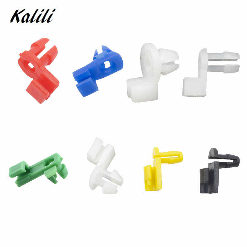 Kalili 20 Pieces Auto Universal Plastic Door Round head Lock Rod Clip Side Fasteners Retainers Car Wire Clips