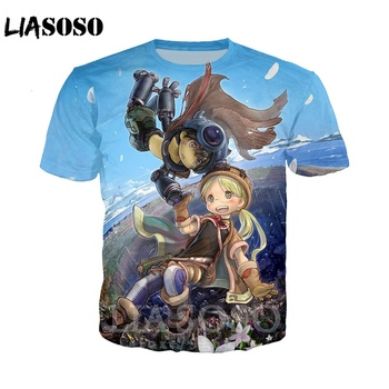 Fashion T-shirt 3D print Men women Anime streetwear top Made In Abyss t shirt Harajuku clothes homme tshirt Short Sleeve A231