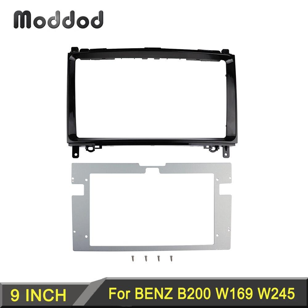 9 inch Radio Fascias for Mercedes BENZ B200 A-KLASSE W169 B-KLASSE W245 2004-2012 Dash Kit Frame Stereo Panel Dashboard Bezel